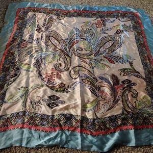 100%silk scarf